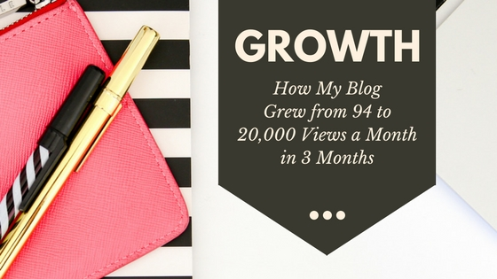 How I grew my blog from 94 to 20,000 page views in three months.