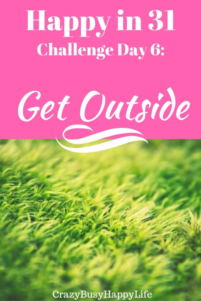 Day 6 of the Happy in 31 Challenge- today we are getting outside. The benefits of fresh air are profound. Also, a little sun helps us with vitamin D productions- something women need for strong bones. Read more by clicking through.